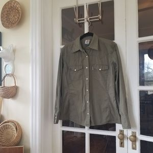 Carhartt  - Button Down Work Shirt in Olive Green